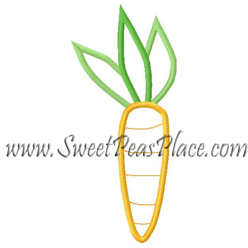 Carrot Applique Embroidery Design