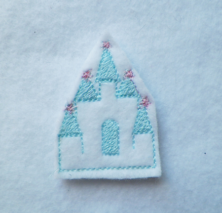 Princess Castle For Felt Embroidery Design