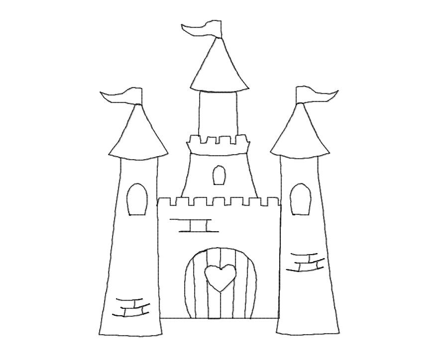 Princess Princess Castle Outline Embroidery Design Sweet Peas Place