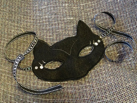 Cat Mask in the Hoop Applique Embroidery Design