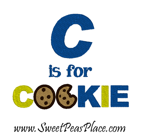C is for Cookie Filled Embroidery Design