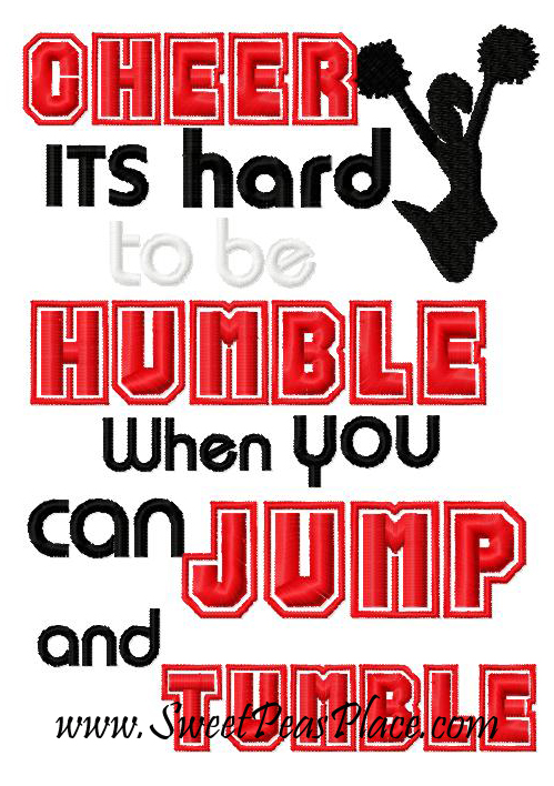 Cheerleading Its Hard to be Humble when you can Jump and Tumble
