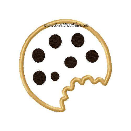 Chocolate Chip Cookie Applique Embroidery Design