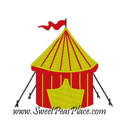 Circus Tent Filled Embroidery Design