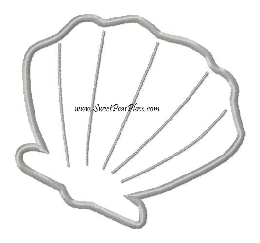 Clam 2 Applique Embroidery Design