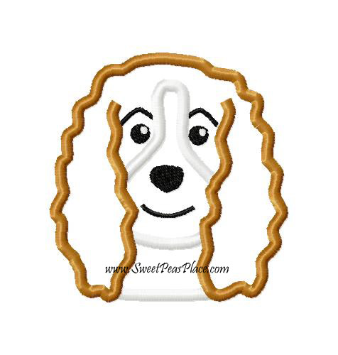 Cocker Spaniel Applique Embroidery Design
