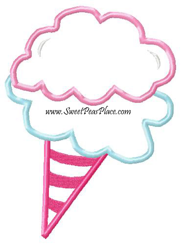 Cotton Candy Applique Embroidery Design