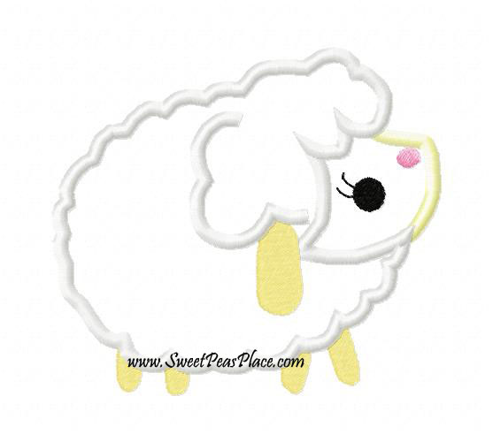 Cozy Lamb Applique Embroidery Design