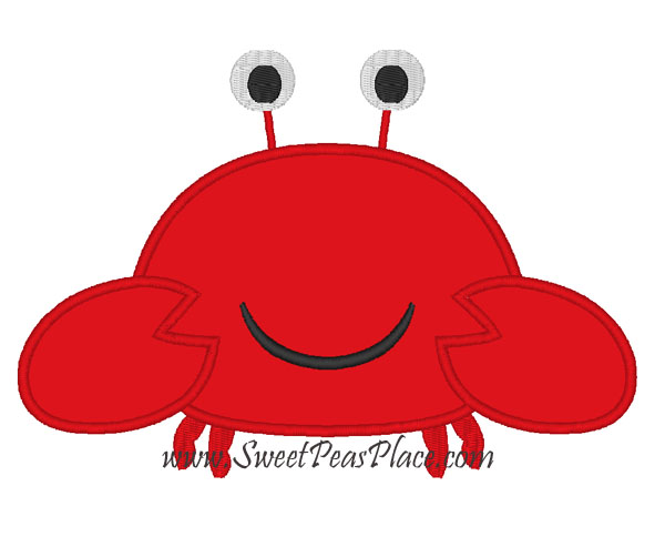 Crab Applique Embroidery Design