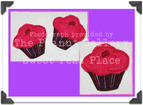 Cupcake for Felt Applique Embroidery Design