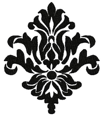 Damask Filled Embroidery Design