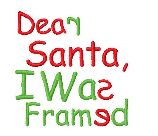 Dear Santa Embroidery Design