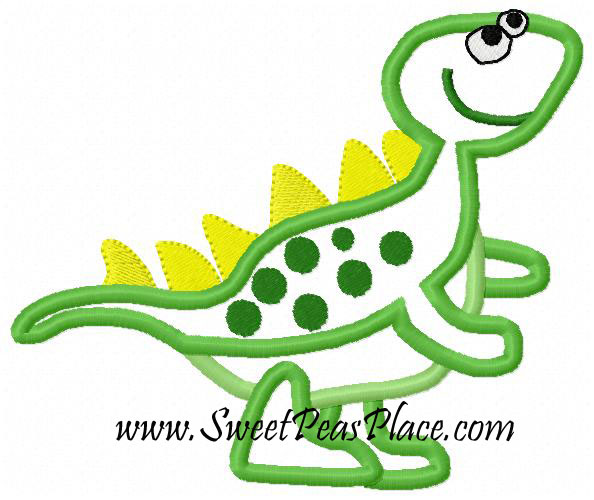 Dinosaur 3 Applique Embroidery Design