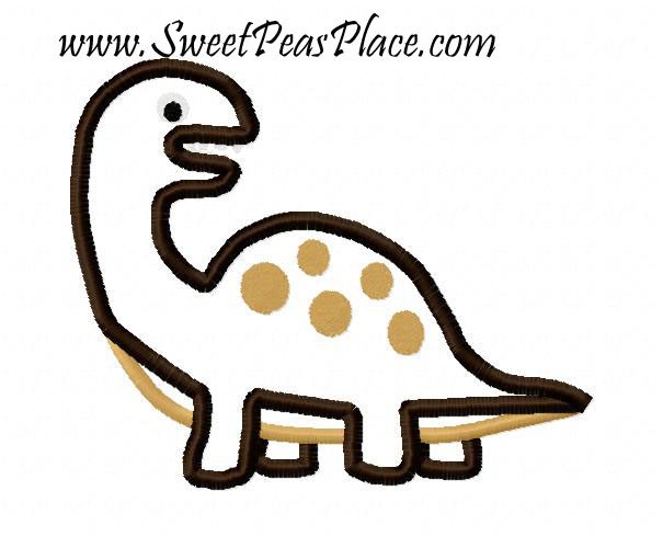 Dinosaur 2 Applique Embroidery Design