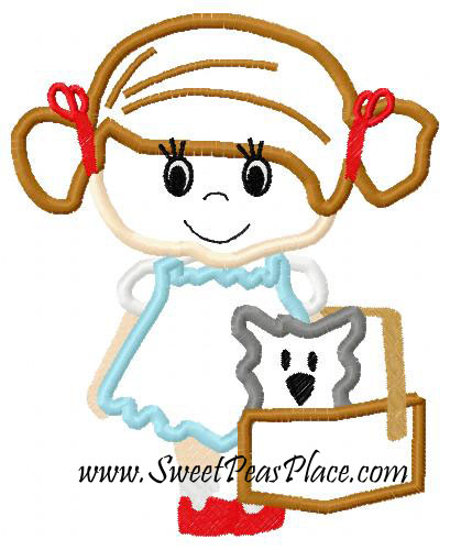 Dorothy Applique Embroidery Design