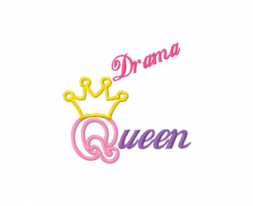 Drama Queen Applique Embroidery Design