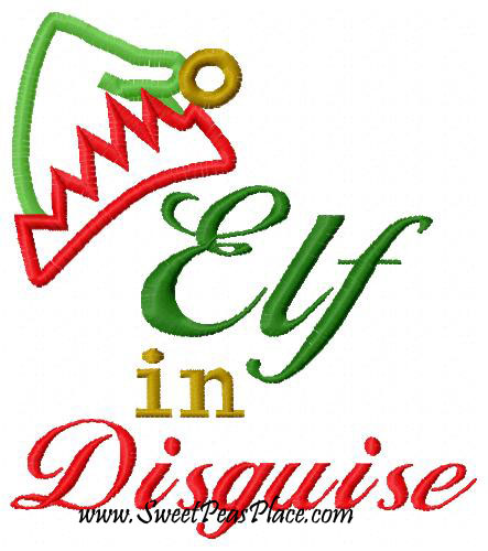 Elf in Disguise Applique Embroidery Design