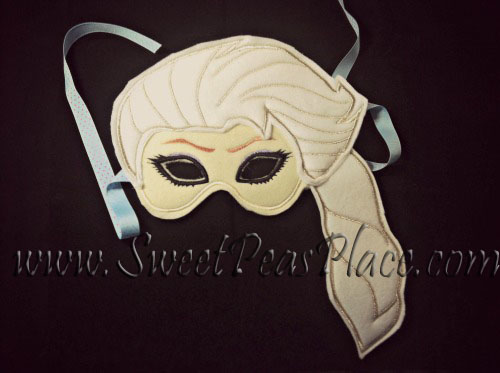 Ice Princess Mask in the Hoop Embroidery Design