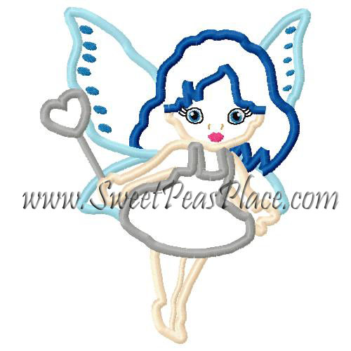 Fairy Princess Applique Embroidery Design