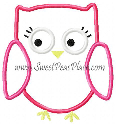 Owl Fall Homecoming Embroidery Applique Design