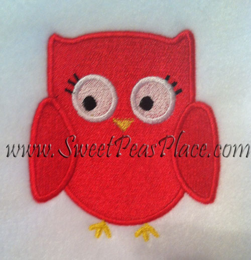 Fall Homecoming Owl Filled Embroidery Design