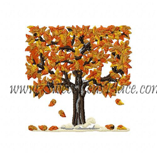 Fall Tree 2 Embroidery Design