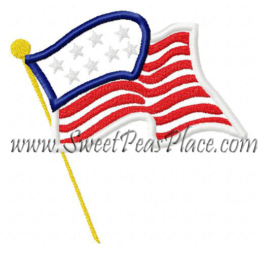 Flag Applique Embroidery Design