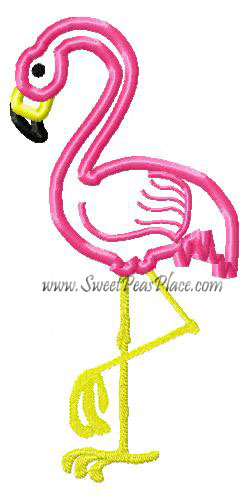 Flamingo Applique Embroidery Design