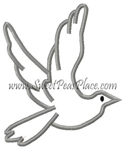 birds and owls sweet peas place Wooden Dove Cage flying dove applique embroidery design