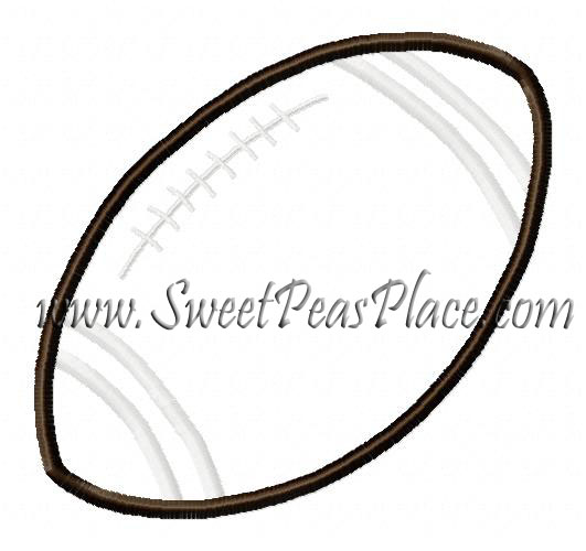 Football with stripes applique Embroidery Design