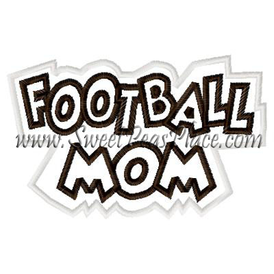Football Mom Double Applique Embroidery Design