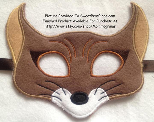 Fox Mask in the Hoop Applique Embroidery Design