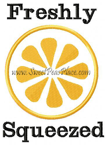 Freshly Squeezed Applique Embroidery Design