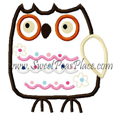 Woodsy Owl Applique Embroidery Design