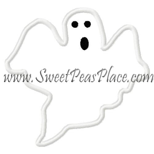 Ghost Applique Embroidery Design