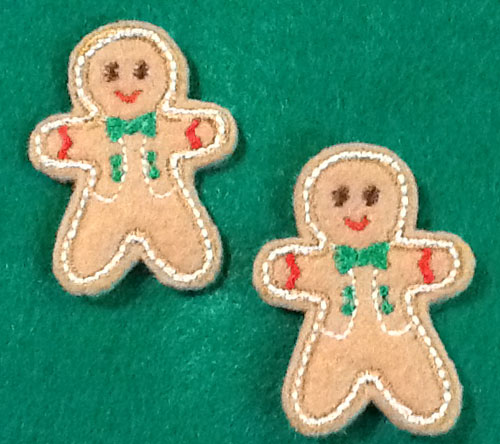Gingerbread for Felt 2 Applique Embroidery Design