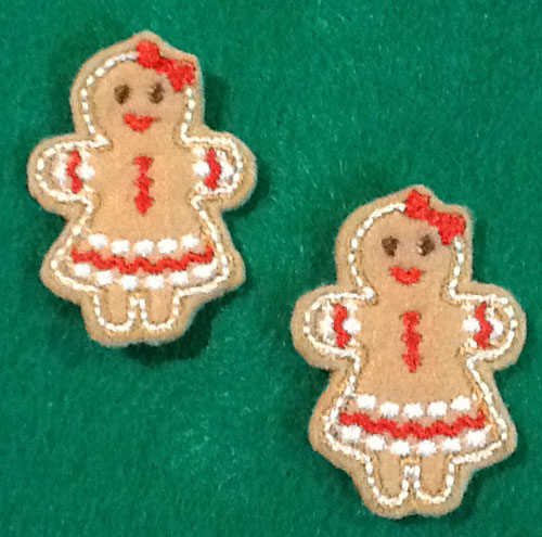 Gingerbread Girl for Felt Applique Embroidery Design