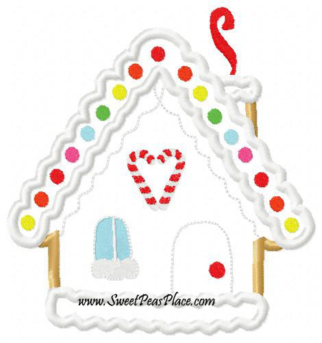 M2MG Cozie Cutie Gingerbread House Applique Embroidery Design