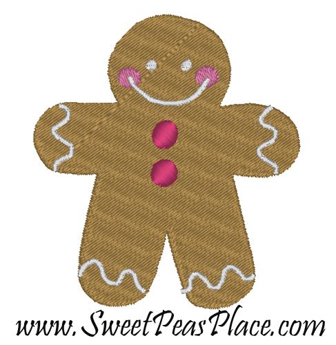 Gingerbread Filled Mini Embroidery Design