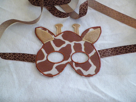 Giraffe Mask IN the Hoop Applique Embroidery Design