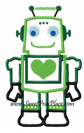 Robot O'Molly Applique Embroidery Design
