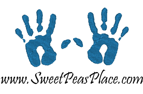 Child Handprints Embroidery Design