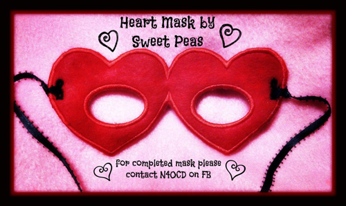 Heart Mask in the Hoop Applique Embroidery Design