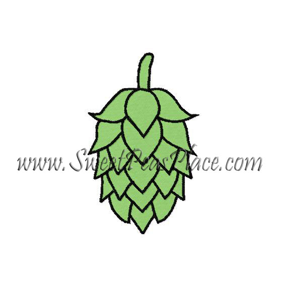 Hops Embroidery Design