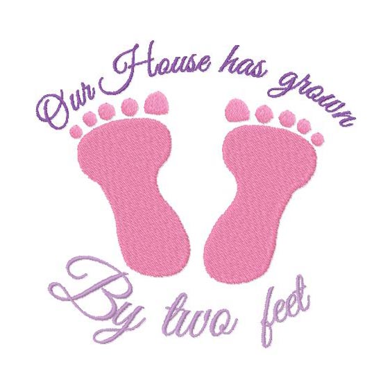 House has grown by two feet embroidery Design