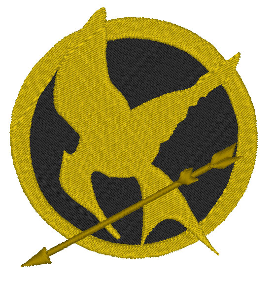 Hunger Games Mockingjay Filled Embroidery Design