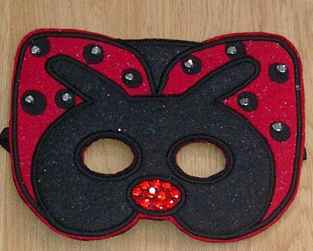 Ladybug Mask in the Hoop Applique Embroidery Design