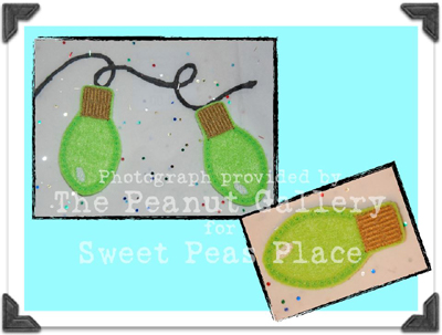 Holiday Lights for Felt Applique Embroidery Design