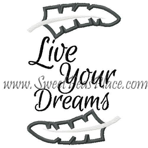 Live your dreams with Feather Applique Embroidery Designs