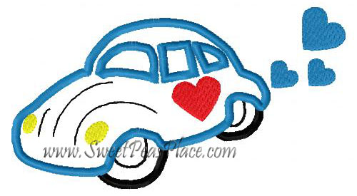 Lovebug Applique Embroidery Design